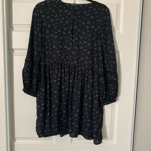 Zara TRF black floral tunic in size S